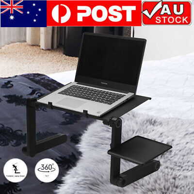 AU30.99 • Buy New Portable Foldable Laptop Stand Desk Table Tray Adjustable Sofa Bed Mouse Pad