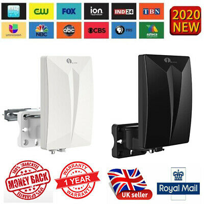1byone Indoor/Outdoor TV Antenna Digital Freeview Aerial Signals SMD HDTV DVB-T • 15.87£