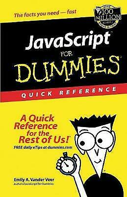 JavaScript For Dummies Quick Reference, Emily A. Vander Veer • 13.13£
