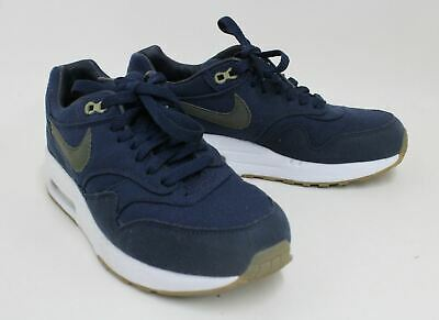 A.P.C. NIKE Air Max Ladies Navy Blue & White Canvas Lace Up Trainers EU37.5 UK4 • 248.85£