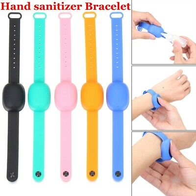 Hand Wash Gel Wristband Squeeze Bottle Hand Wash Bracelet For Adults Kids • 3.79£
