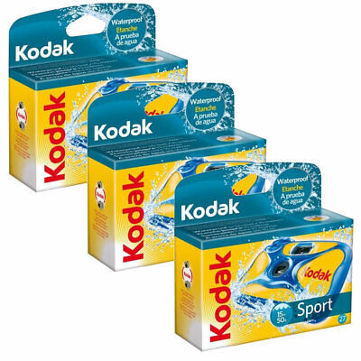 £46.96 • Buy 3 X Kodak Ultra Sport Underwater Disposable Camera