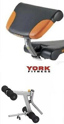 York Diamond Olympic Barbell Bench Folding Arm Curl And Leg Curl Attachments • 249.99£
