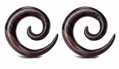 $13.49 • Buy Pair Wood Spirals Tapers Ear Plugs Tunnels Gauges 8g 4g 2g 0g 00g 1/2 9/16 5/8