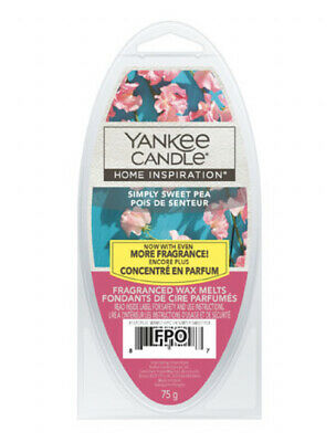 X2 YANKEE CANDLE HOME INSPIRATION WAX MELT CUBES - Simply Sweet Pea • 8.99£