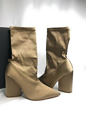 $ CDN212.37 • Buy YEEZY Satin Stretch Ankle Socks Bootie Shoes 10MM ST Size 38.5 Military Light