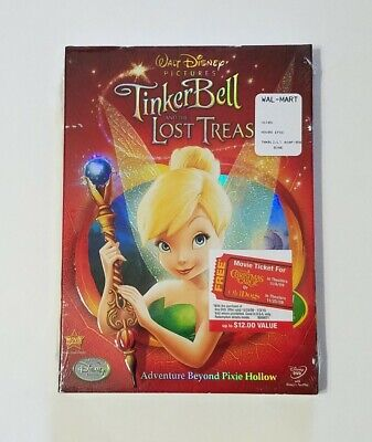 £8.48 • Buy TinkerBell And The Lost Treasure DVD REGION 1 (2009) - Disney - NEW! SEALED!!