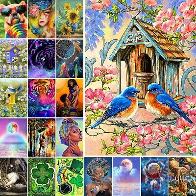 AU14.49 • Buy Animal DIY 5D Diamond Painting Embroidery Cross Craft Stitch Art Kit Home Decor