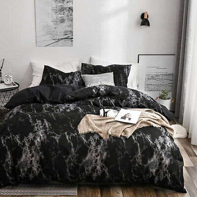 AU39 • Buy All Size Bed Ultra Soft Quilt Duvet Doona Cover Set Bedding Pillowcase Black