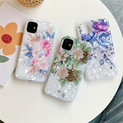 AU7.99 • Buy For IPhone 11 Pro Max XR 8 7 Plus Girls Flower Shell Soft Shockproof Case Cover