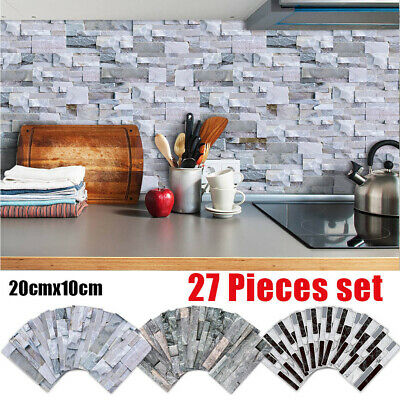 Kitchen Bathroom Peel And Stick 3D Self Adhesive Mosaic Stair Wall Tile Sticker • 7.95£