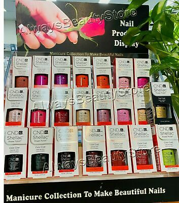AU35.90 • Buy CND Shellac UV LED Gel Nail Polish Collection 7.3ml NEW Choose Your Color
