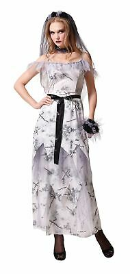 Zombie Bride Costume Ladies Halloween Horror Night Fancy Dress Party Outfit • 12.10£