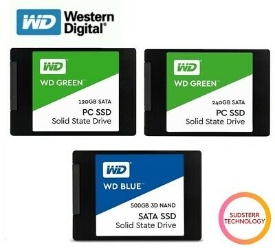 AU59.95 • Buy SSD 120GB 240GB 500G WD Green Blue Internal Solid State Drive HDD 2.5''