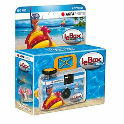 AgfaPhoto LeBox Ocean 400 Disposable Camera With Flash (27 Exposures) • 11.95£