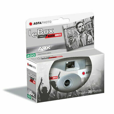 AgfaPhoto LeBox 400 B&W Disposable Camera With Flash (36 Exp) • 11.95£