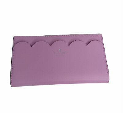 $ CDN129.18 • Buy Kate Spade Braylon Scalloped Magnolia Wallet In LAVANDER FROST / BLACK