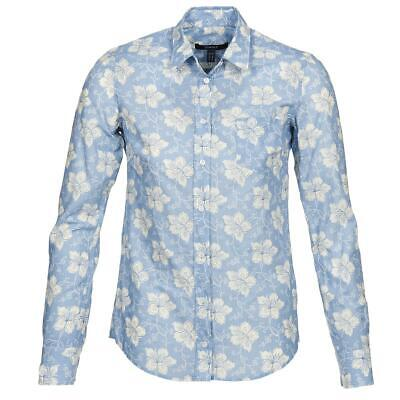 GANT UK 14/L White Lily Voile Ladies Shirt BNWT Large Flowers Shirt NEW RRP £85 • 39.99£