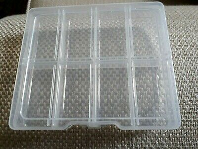 Plastic Box 8 Compartment, Jewellery, Fishing, Beads, DIY Etc. Small Hard Clear. • 3.79£