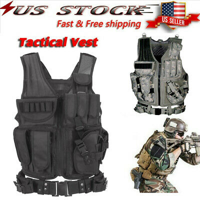 $29.51 • Buy Tactical Vest Military Army Molle Combat Hunting CS Field Training US T6E3
