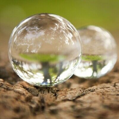 £2.98 • Buy Clear Glass Crystal Ball Healing Sphere Photography Props Gift DIY Decor 30-50mm