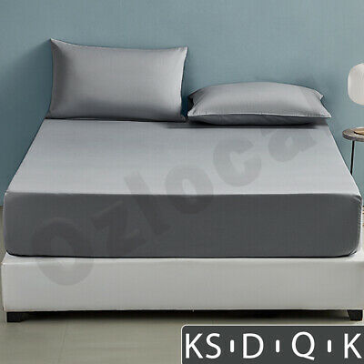 AU17.99 • Buy Bed Sheets Fitted Sheet Set Pillow Case Ultra Soft Double Queen King KS AU STOCK