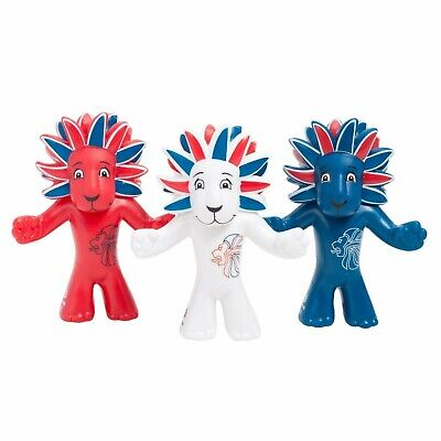 Olympic Mascot Official Team Gb Figurine Triple Pack Pride The Lion New 3+bnwb • 5£