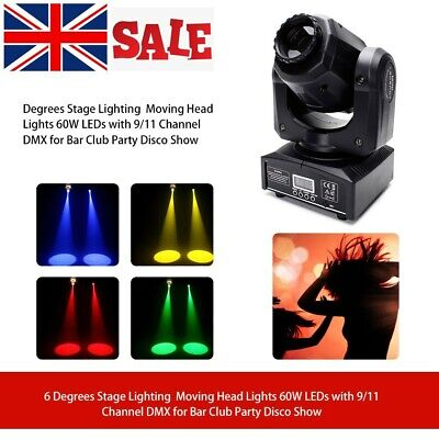 60W Moving Head Stage Light Gobo RGBW LED DMX Spot Club Disco DJ Party Lighting • 59.99£