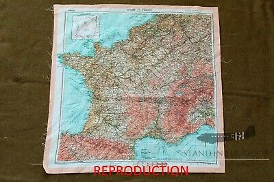 WW2 D-Day Zones Of France Silk Invasion Escape Map  Seconds  • 18.72£