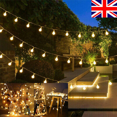 USB/Battery LED Globe Bulb Ball Fairy String Lights Garden Outdoor Waterproof • 6.18£