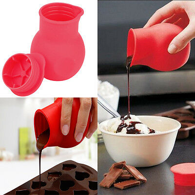 Practical Silicone Chocolate Melting Pot Mould Butter Sauce Baking Pouring New • 4.39£