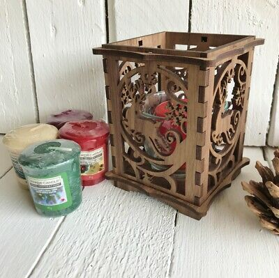 Yankee Candle Gift Set With Wood Reindeer Holder & 4 Scented Votives • 19.99£