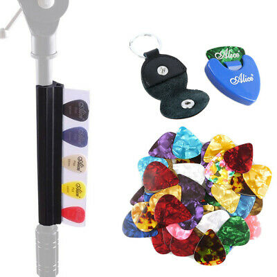 $ CDN15.72 • Buy Guitar Picks Holder For Microphone Music Stand & Picks Bag & Clip & 30 Picks