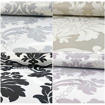 Romeo Damask Wallpaper Arthouse Metallic - Grey Cream Blush Black • 10.90£