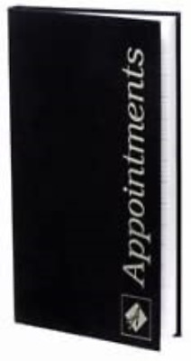 Agenda Appointment Book Hairdressing 3 Column Assistant - Black • 13.92£