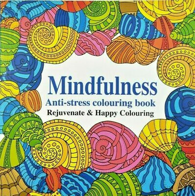 AU9.95 • Buy Adult Colouring Book Mindfulness Mind Relaxation Stress Relief Calming Therapy