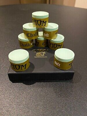 Brand New Taom Gold/soft Green Cue Chalk, 1 Piece, Snooker/pool • 12£