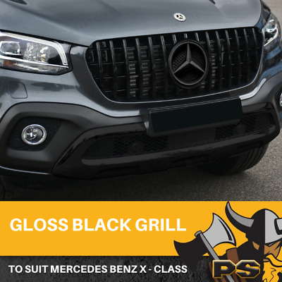 AU499 • Buy Front Gloss Black Grill AMG Style Replacement To Suit Mercedes-Benz X Class