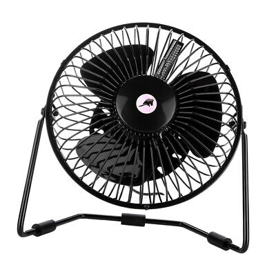 AU35.03 • Buy Small Desk Fan Portable Cooling & Clock Temperature Display USB Flashing LED