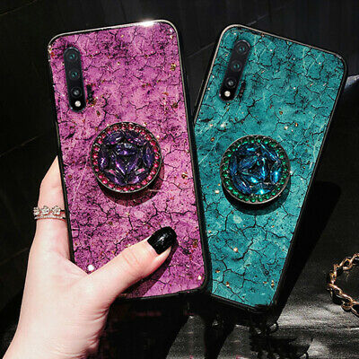 Diamond Marble Phone Case With Holder For IPhone 8Plus 7 XR XsMax  X 11 11Pro • 6.64£