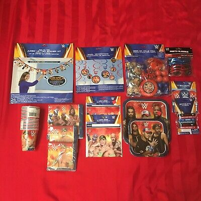 Wwe Birthday Party Supplies • 30.54£