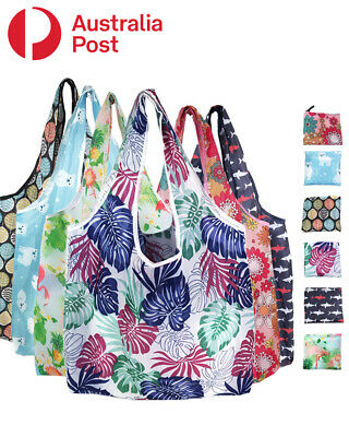 AU3.95 • Buy Reusable Foldable Waterproof Shopping Bags 35mm X 46mm