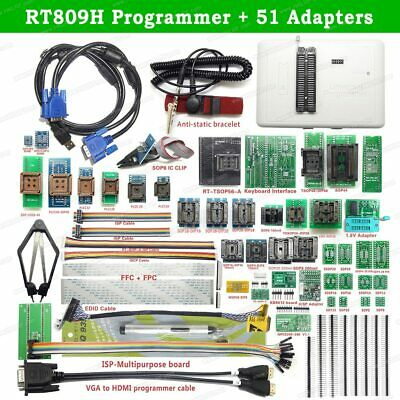 RT809H EMMC-NAND FLASH Programmer +51 ADAPTERS WITH CABEL EMMC-Nand +Suction Pen • 121.56£