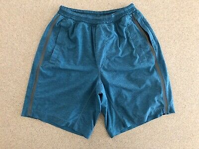 "$ CDN67.04 • Buy Lululemon Pace Breaker Shorts 9"" Medium Blue Green Reflective Luxtreme Liner"