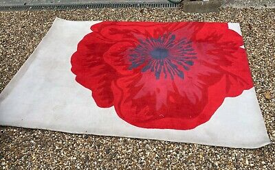 Next Large Rug Poppy Red And Cream 195 X 140 • 30£