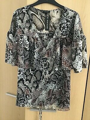 River Island - Snakeskin Blouse - Size 12 - Brand New & Unused With Tags • 15£