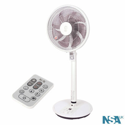 NSA 12  Touch Safe Pedestal Fan With Remote Control 24 Speed SFDC-30213RC • 69.99£