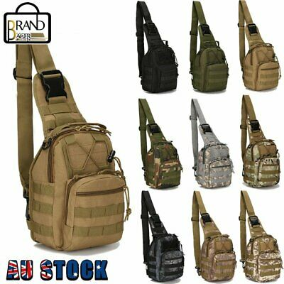 AU21.59 • Buy AOKALI Tactical Shoulder Bag Sling Messenger Military Chest Pack Fanny Backpack