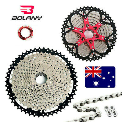 AU85.25 • Buy BOLANY 8/9/10/11s MTB Bike 11-40/42/44/46/50T Cassette KMC Steel Sprocket Chains