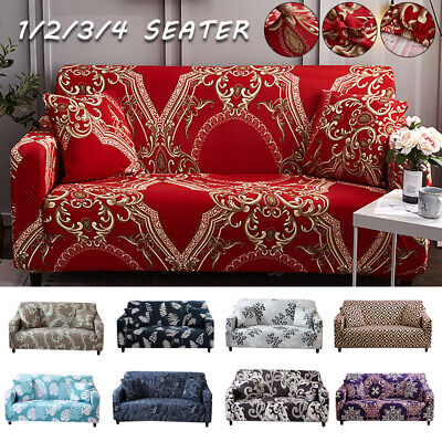 AU31.99 • Buy 1-4 Seater Stretch Sofa Covers Elastic Couch Cover Slipcover Protector Anti Slip
